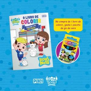 Livro de colorir Luccas e Gi nas férias