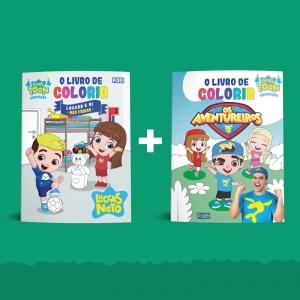O livro de colorir Luccas e Gi nas férias  + O livro de colorir Os Aventureiros